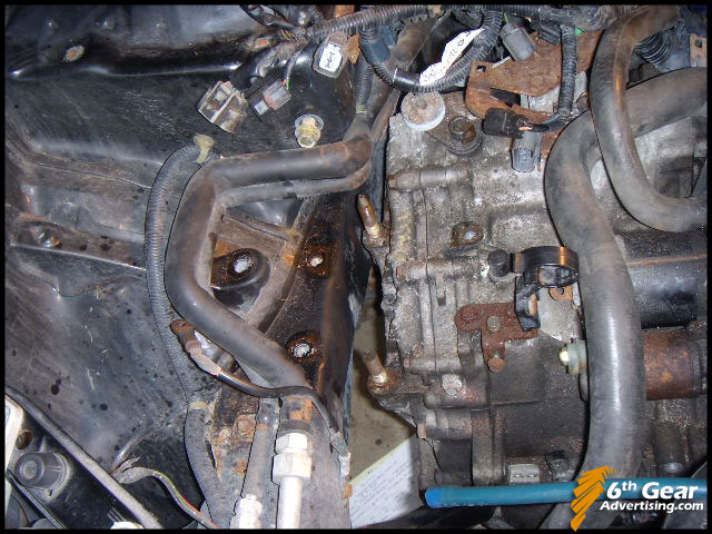 civic hx cvt to manual transmission swap 2 removing 1997 Honda Civic 4 Door 1997 Honda Civic White