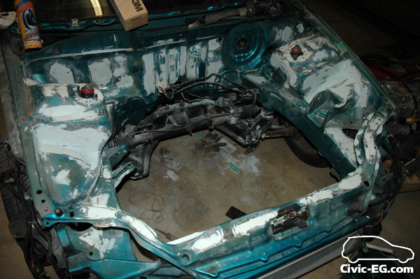 Civic EG View topic Shaved engine bay
